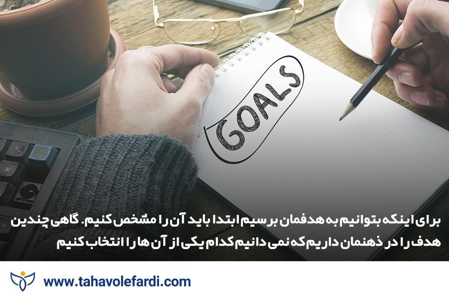 هدف هایی که دارید را مشخص و یادداشت کنید